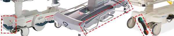 Stretcher brake examples